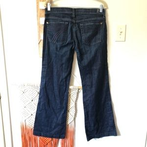 7 For All Mankind Dojo Jeans Dark Wash Stitching